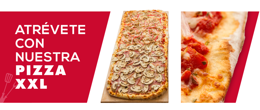 Atrévete con nuestra pizza XXL